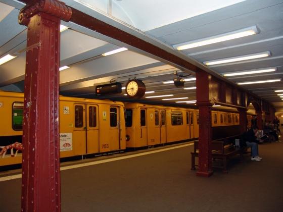 La estación de metro en Berlín
