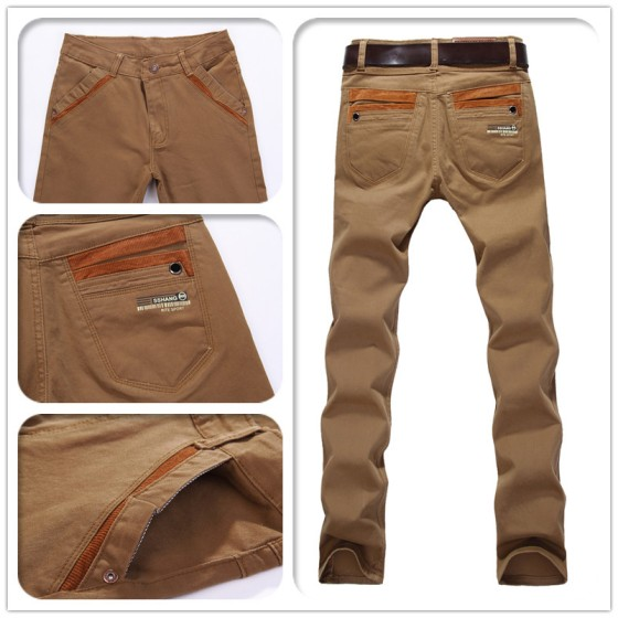 New-Arrival-2013-Fashion-Korea-Style-Khaki-Jeans-Pants-Men-Free-Shipping-Narrow-Skinny-Slim-Fit