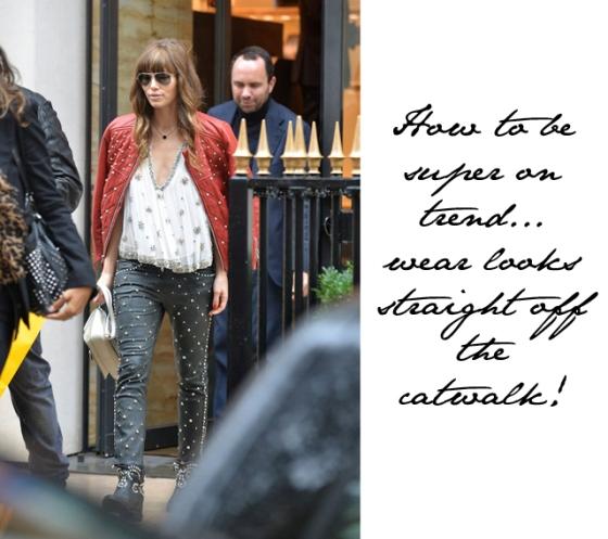 Jessica Biel Wears Studded Leather In Paris